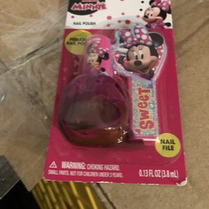 Minnie Mouse Nail Polish With File Darker Pink for Sale in Salem, OR
