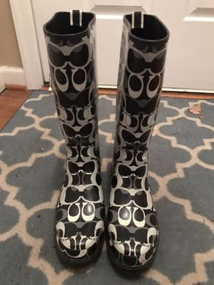 Women'a Coach Rain boots (size 9) for Sale in Alexandria, VA