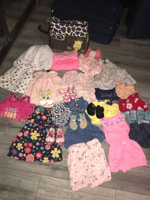 Baby girl clothes. 👚👚👗🥿 for Sale in GLMN HOT SPGS, CA