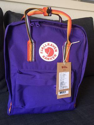 Fjallraven Kaken Classic Backback, Purple/Rainbow, new for Sale in Maple Valley, WA