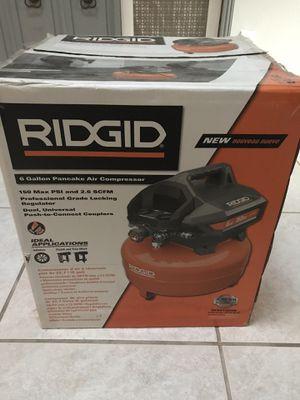 Ridgid compressor 6gal 150 psi for Sale in Palm Harbor, FL