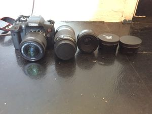 Canon T6i with extra lenses and equipment for Sale in Bergenfield, NJ