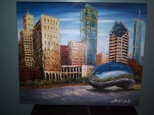 Chicago painting in canvas for Sale in Round Lake Heights, IL