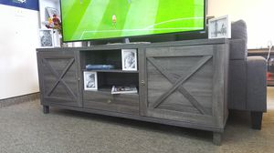 Oracle TV Stand up to 85in TVs, Distressed Grey, SKU 182290 for Sale in Midway City, CA