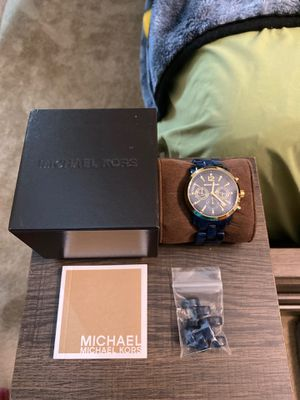 Michael Kors navy blue watch for Sale in Portsmouth, VA