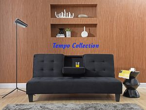 NEW, Futon with Cupholders, Black, SKU# 7501 for Sale in Garden Grove, CA