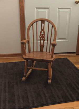 Kids size wood rocking chair for Sale in Northfield, OH