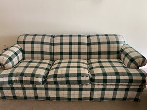 Plaid Couch, gently used for Sale in Charlottesville, VA