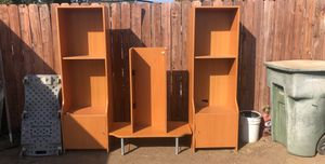 4 piece wooden TV Stand for Sale in Fresno, CA