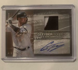 2020 Series 1 Gleyber Torres Patch Relic Auto 1/1 Superfractor! for Sale in Sterling Heights, MI
