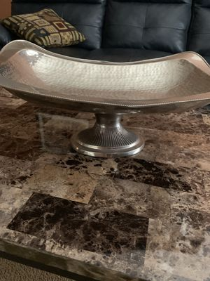 """LARGE Beautiful 20""""x14""""x6"""" Pewter Pedestal Rectangular Decor Piece. This was over $100 New, Beautiful Item. Pick up in East Clayton for Sale in Clayton, NC"""