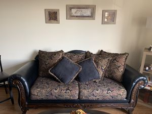 Sofa, bar stools, queen bedroom set, pillow top mattress, 32 inch tv, 55 inch tv, coffee table, entry table, clock, lamps, everything for Sale in Tampa, FL