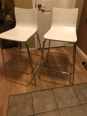 Brand new matching set of tall contemporary barstools. 30inches from floor to seat. Retails for $185 for Sale in Fowler, CA