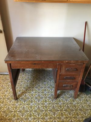Antique Wood Bankers Desk - Everything works for Sale in Castro Valley, CA