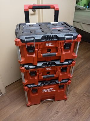 Milwalkee. Stackable toolbox for Sale in Oklahoma City, OK