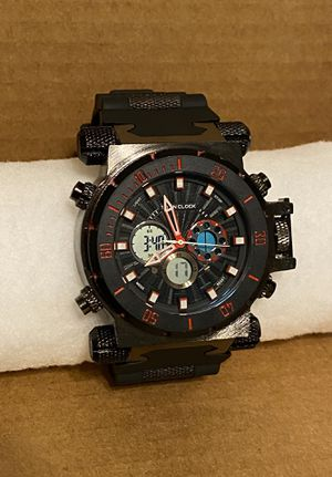 New Men's Black/Red Titan Clock Watch for Sale in Reading, PA
