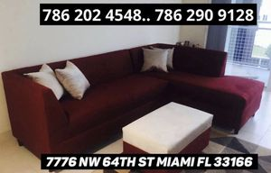 Suede sectional sofa never used for Sale in Medley, FL