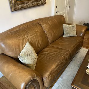 3 Set Real Leather Sofa for Sale in The Bronx, NY