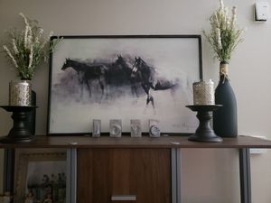 Horses 'In The Mist' Framed Art by Marilyn Hageman for Sale in Seminole, FL