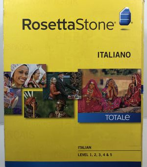 Rosetta Stone Italian levels 1-5 and headset for Sale in Manchester, NH
