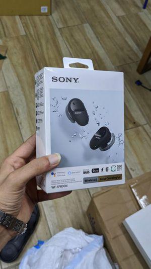 Sony - WF-SP800N True Wireless Noise-Cancelling In-Ear Headphones - Brand New in Box for Sale in Arlington, TX