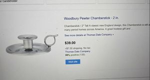 Woodbury Pewter Chamberstick for Sale in Fort Worth, TX
