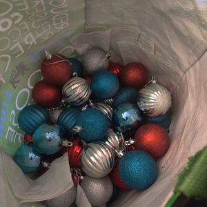 Bag of round ornaments for Sale in Raleigh, NC