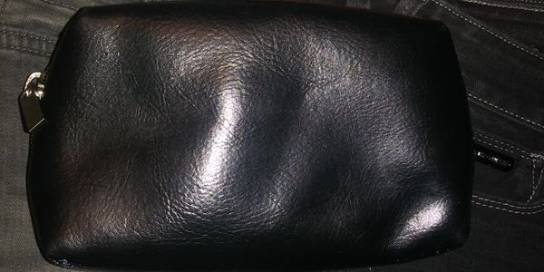 Mary Kay Girlfriend embroidered beaded black Cosmetic Bag=Make-up bag 💄