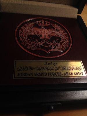 Jordanian Army Plaque for Sale in Alexandria, VA