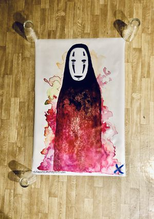 """Spirited Away No Face Fabric Poster - 24"""" X 36"""" - Mint Condition for Sale in Burien, WA"""
