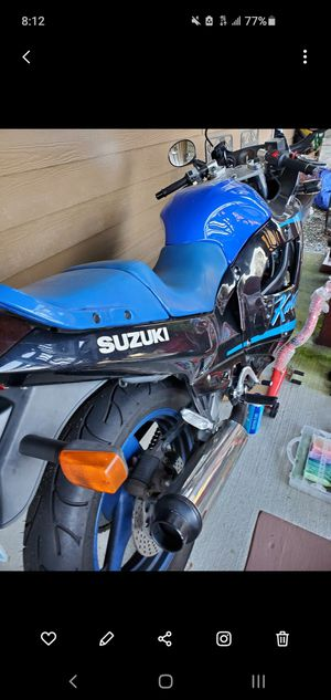 Suzuki 86 motorcycle collector vehicle new tires stands for Sale in Bonney Lake, WA