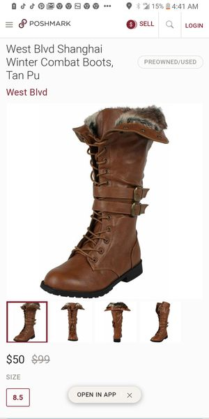 West blv. Shanghai winter combat boots size 71/2 for Sale in Los Angeles, CA