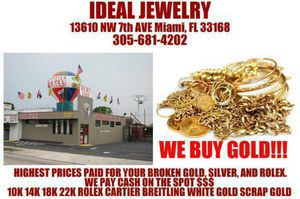 We buy scrap GOLD SILVER + COIN - APPLE TABLET -TV CELL PHONE - GAME SYSTEM PS3 PS4 XBOX ONE We BUY Everything U NAME IT NEED Cash WE PAID TOP CALL for Sale in Miami, FL