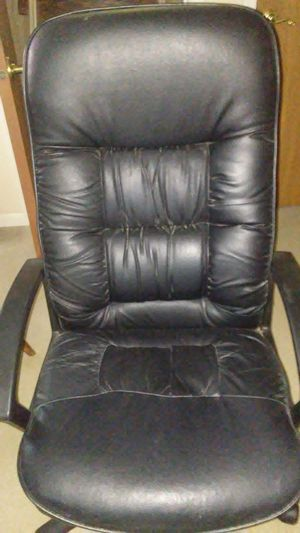 Leather rocking desk chair for Sale in New Windsor, MD