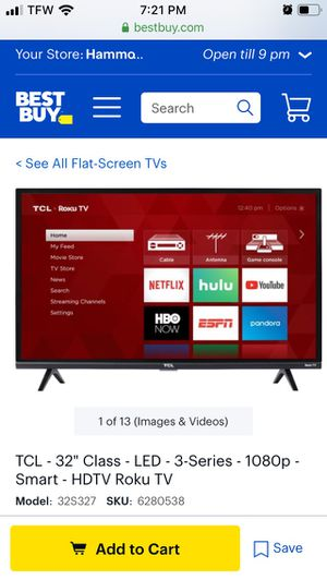 Tcl Roku tv for Sale in Hammond, LA