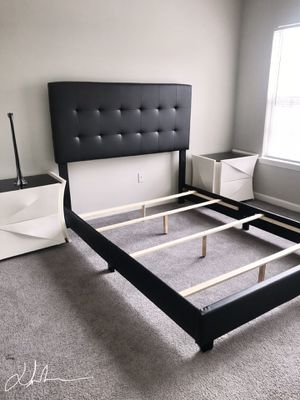 Brand new queen bed frame setup and delivery included in the pricing for Sale in Atlanta, GA