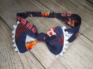 handmade houston astros top knot headband for Sale in Houston, TX