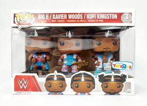 Funko POP! - WWE Big E / Xavier Woods / Kofi Kingston (#3) Toys R Us Exclusive - Vinyl Figure - NEW w/Defects for Sale in Trenton, NJ