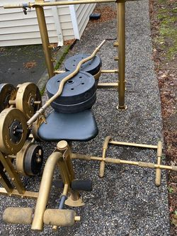 Bench Press With Weights Rack +190lb. Dlivery Available for Sale in Troutdale,  OR