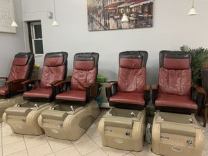 Pedicure chairs and manicure tables for Sale in Boston, MA