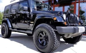 """17"""" JEEP Off-Road Wheel & Tire Special 17x9 Black Wheels 35x12.50R17 Mud Terrain Tires Lift Kit 4"""" ProComp From @ $1999 for Sale in La Habra Heights, CA"""