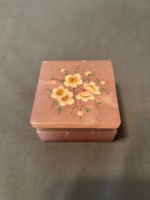 Rose Quartz Floral Jewelry Box for Sale in Carnegie, PA