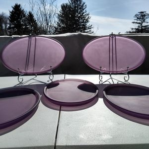 1970s Westmoreland Glass Lilac Satin Mist Dresser Trays for Sale in Monroeville, PA