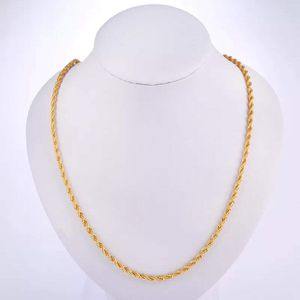 """18k gold plated necklace twisted chain 30"""" long for Sale in Colesville, MD"""