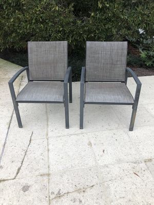 2 metal and mesh outdoor chairs for Sale in Virginia Beach, VA