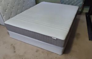 Queen ikea mattres with box spring for Sale in Marietta, GA