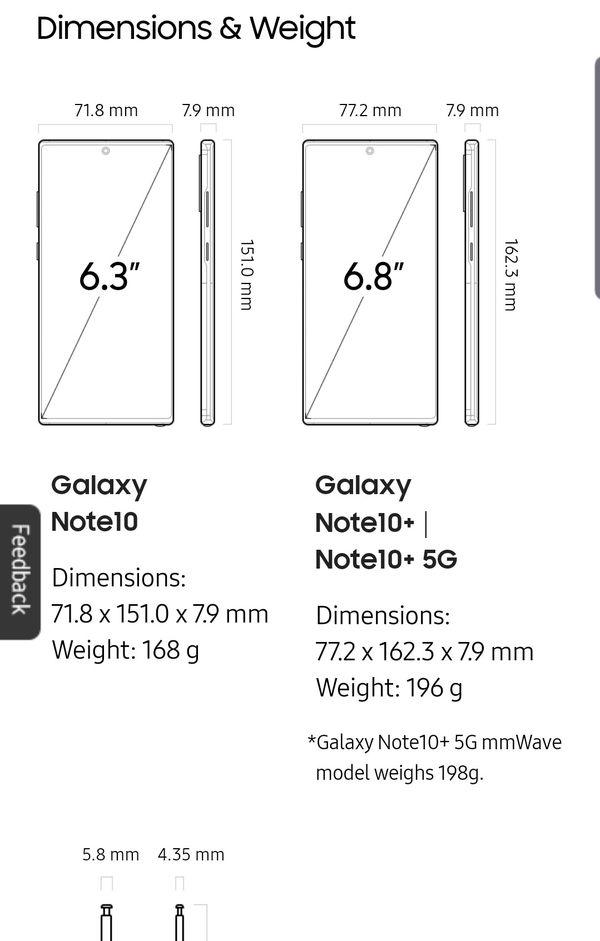 Verizon Samsung Note 10 + 5 G brand new
