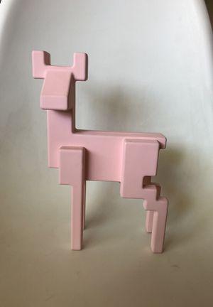 Ceramic Decorative Pink Geometric Deer for Sale in Scottsdale, AZ