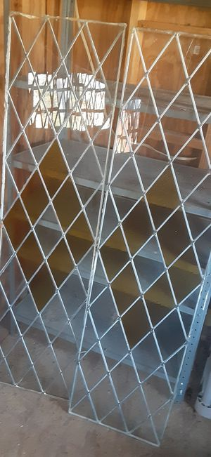 Metal and glass/stain glass pocket for door. for Sale in Tomball, TX