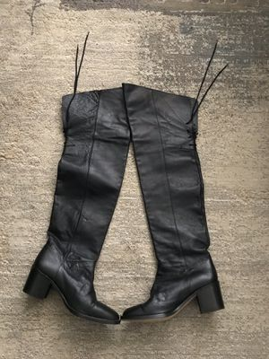 Over the knee leather boots for Sale in Falls Church, VA